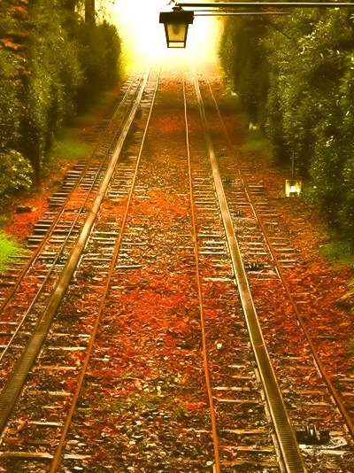 Autumn Railroad Tracks, Pennsylvania