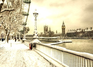 Snowstorm Aftermath, London, England