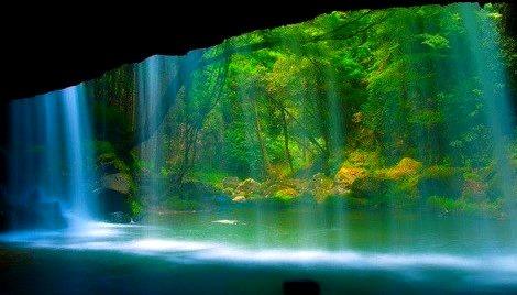 Waterfall Veil, Kumamoto, Japan