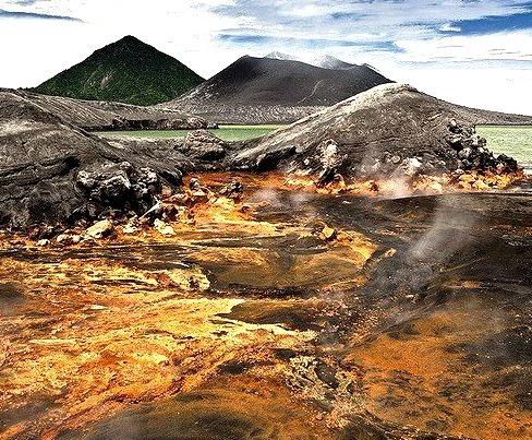 by xflo:w Berlin on Flickr.Hot Springs near Tavurvur volcano - Rabaul Caldera, Papua-New Guinea.
