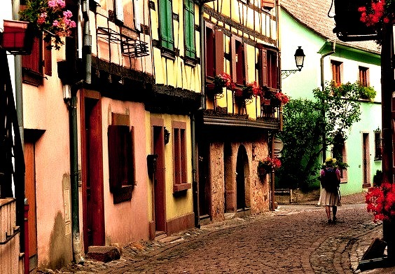 by Michele*mp on Flickr.Streets of Eguisheim - Alsace, France.