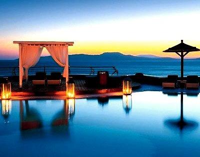 Sunset Pool, Santorini, Greece