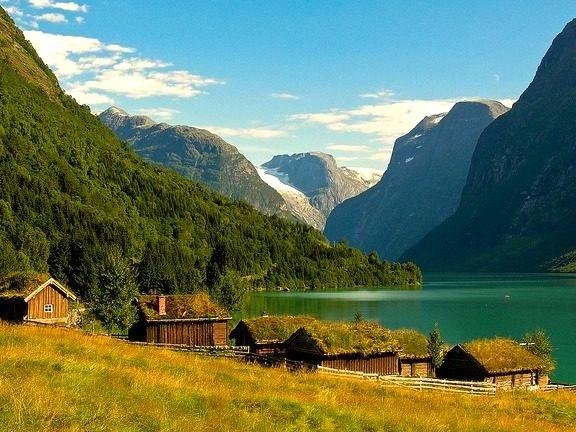by M Molde on Flickr.Lake Lovatnet in Loen - Sogn og Fjordane county, Norway.
