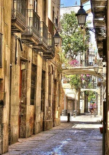 Balconies, Barcelona, Spain