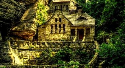 Cliffside Stone House,  Hrensko, Czech Republic