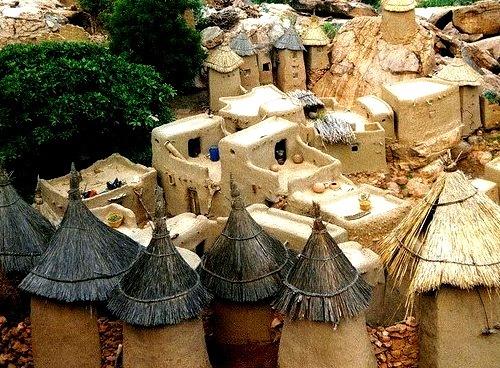 Traditional houses in Bandiagara, Mali