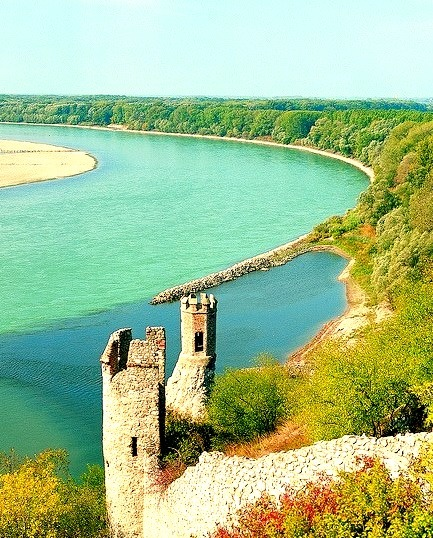 The maiden tower at Devin Castle, on the shores of Danube river, Slovakia