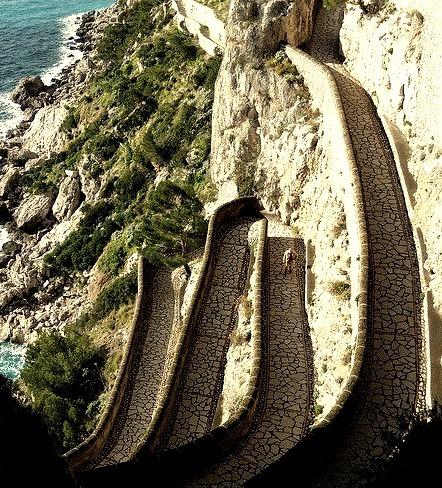 Via Krupp in Capri Island, Italy