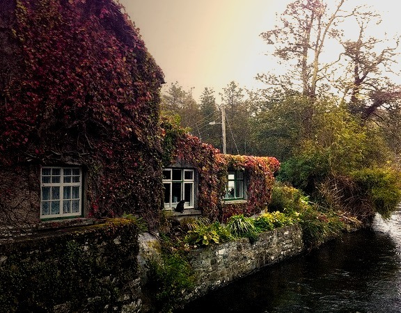 House on the River Cong, Co Mayo, Ireland