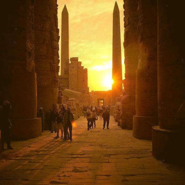 Sunrise at Karnak Temple in Luxor, Egypt