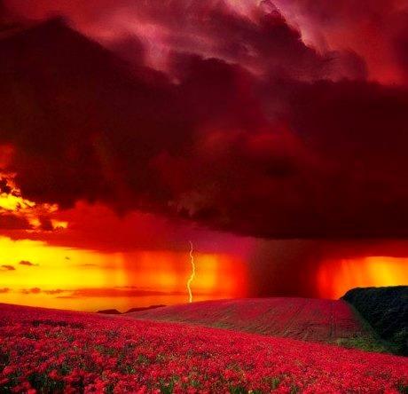 Sunset Lightning, Colorado