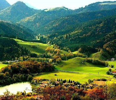 Summer Valley, Schliersee, Austria