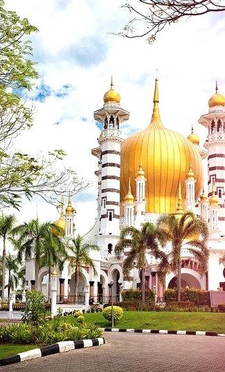 One of the most beautiful mosques in the world, Masjid Ubudiah in Kuala Kangsar, Malaysia