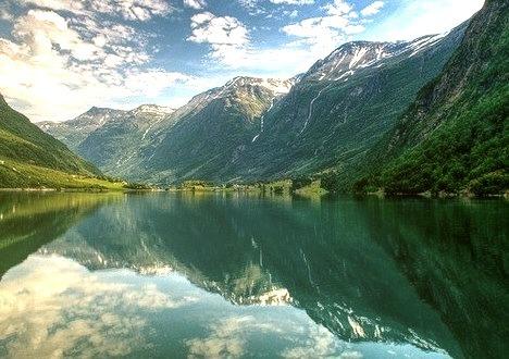 Summer Fiord, Oldedalen, Stryn, Norway