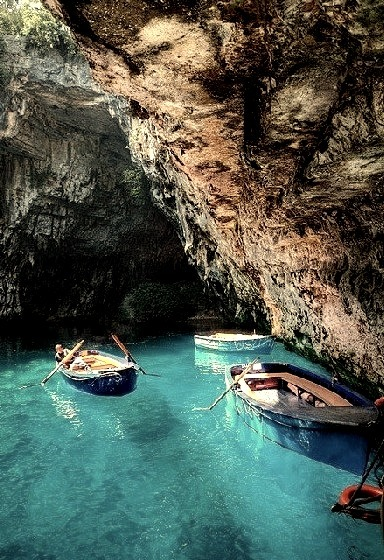 Turquoise Cave, Melissani Lake, Greece