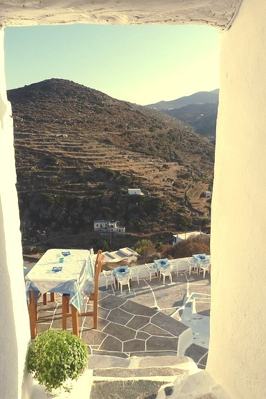 Vintage point in Kastro, Sifnos Island, Greece