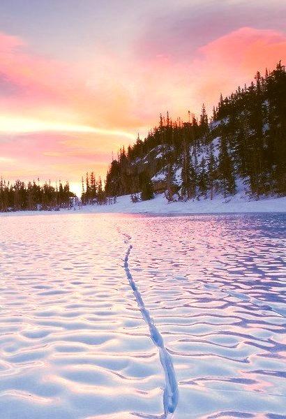 Sunrise, Frozen Loch Lake, Colorado