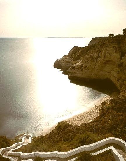 Steps to Praia do Paraiso, Algarve Coast, Portugal