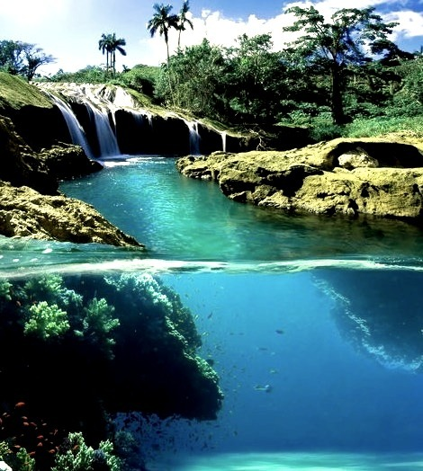 Split View Waterfall, Hawaii