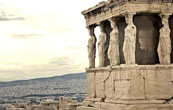 Porch of the Caryatids, Acropolis - Athens, Greece