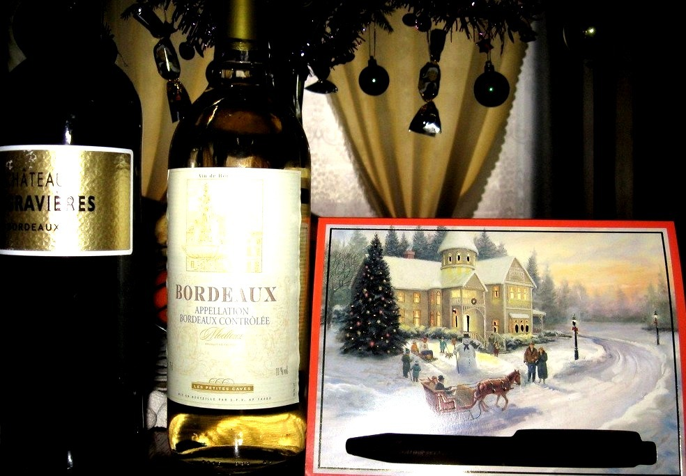This just arrived from France. Merci beaucoup mon ami, Joyeux Noel! :)