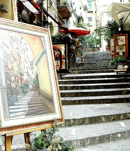 Paintings on the streets of Naples, Italy