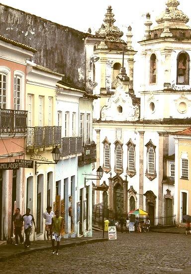 Pelourinho historic district in Salvador, Brazil