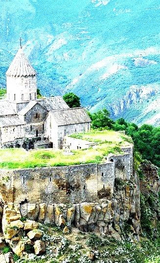 The 9th century old Tatev Monastery in Syunik Province, Armenia
