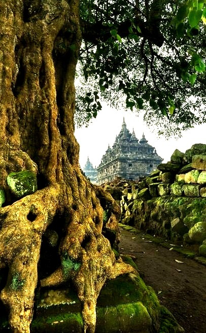 Plaosan Temple in Central Java, Indonesia